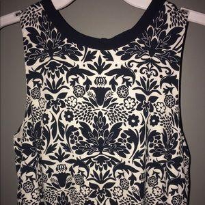 XS Black and White Detailed Loft Dress